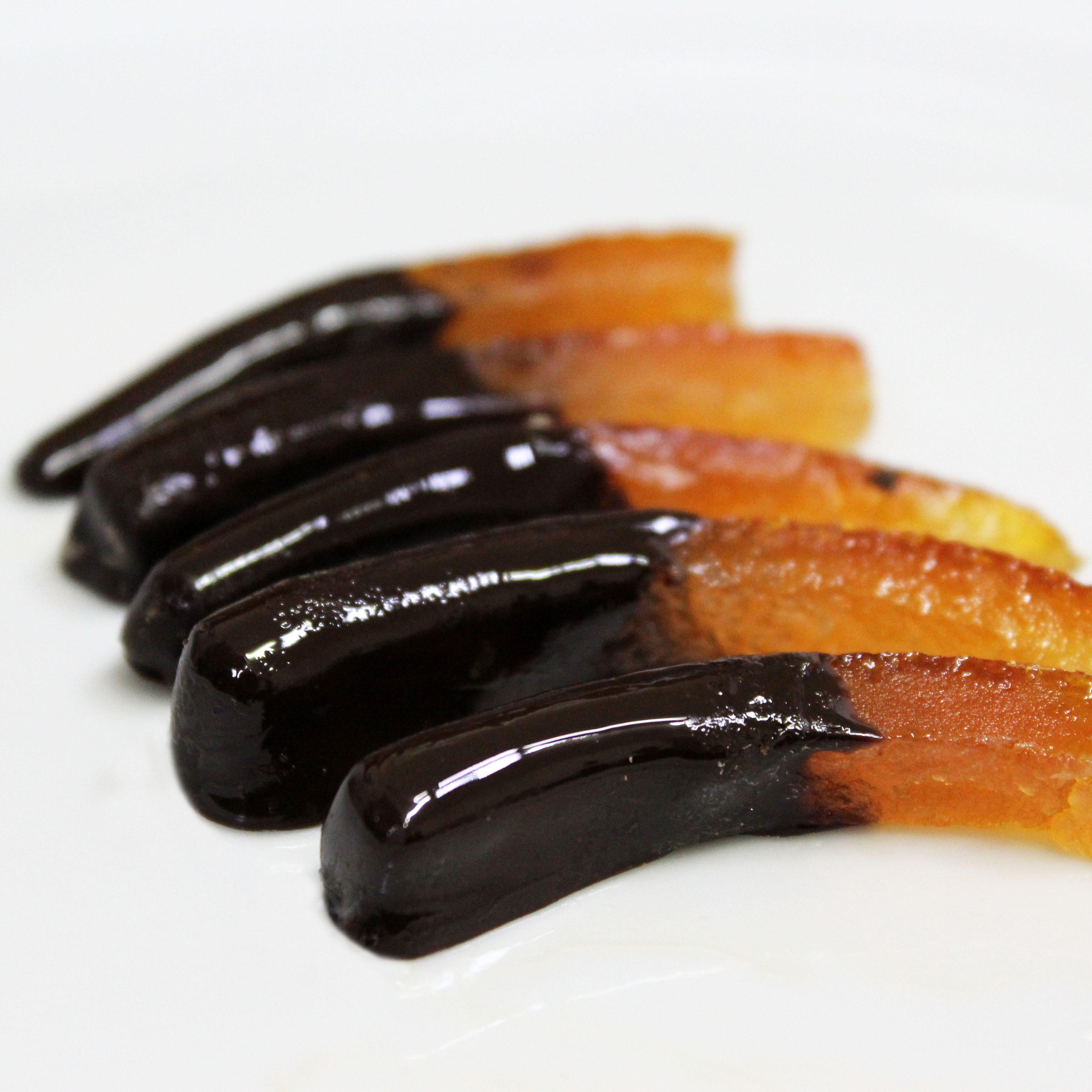 Scorzette di arance candite al cioccolato